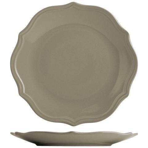 H&H Piatto Ceramica Adele Tortora Piano Cm27 Tableware