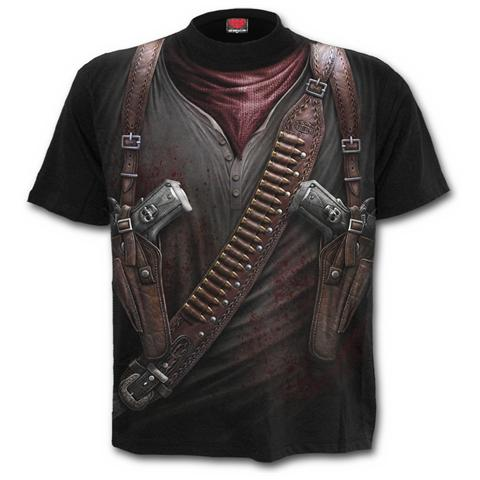 Spiral Direct Spiral - Holster Wrap - Allover T-shirt Black (T-Shirt Unisex Tg. 2XL)