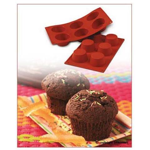 Silikomart Stampo muffin 6 cavita 7cm classic terracotta silicone