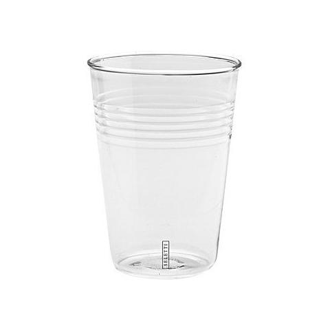 Set da 6 Bicchieri In Vetro Borosilicato Si-Glass Ø Cm. 7 H. 9,7 - Linea Estetico Quotidiano