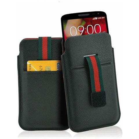 FONEX Stripe Plus in Ecopelle Semilucida con Porta Card Taglia L Colore Nero
