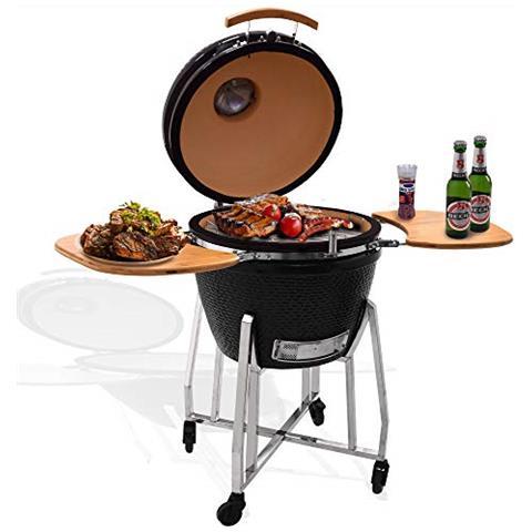 Image of Kamado Griglia Karnado 1 Barbecue Bbq Barbecue A Carbone Griglia A Rotelle Barbecue Forno