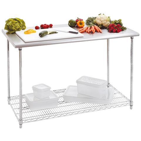 601152 Tavolo da lavoro per cucina 120x60 H88-90 cm capacità 250 kg