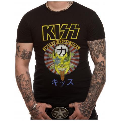 CID Kiss - Hotter Than Hell Japan (T-Shirt Unisex Tg. M)