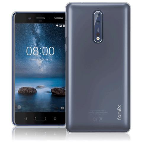 FONEX Cover in TPU per Nokia 8 Colore Trasparente