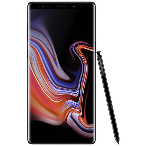 "SAMSUNG Galaxy Note 9 Nero 128 GB Dual Sim Impermeabile Display 6.4"" QHD+ Slot Micro SD Fotocamera 12 Mpx Android Italia"