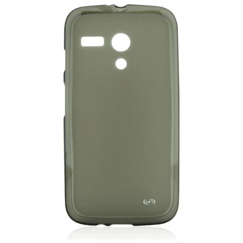 FONEX Pixel Cover in Morbido TPU con Retro Satinato per Motorola Moto G Colore Nero Trasparente