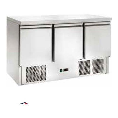 Saladette Refrigerata Statica 3 Sportelli Temperatura +2 / +8°c