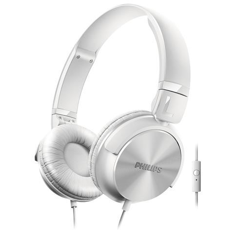 PHILIPS Cuffie con Microfono Cablato SHL3065WT Colore Bianco