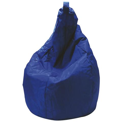 BIACCHI Pouf In Nylon Modello Pera Con Imbottitura In Polistirolo Colore Blu