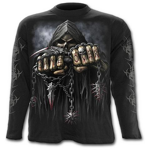 Spiral Direct Spiral - Game Over - Longsleeve T-shirt Black (T-Shirt Manica Lunga Unisex Tg. 2XL)