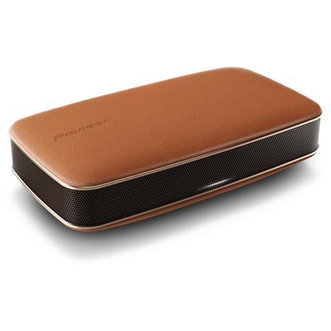 PIONEER Speaker Audio Portatile FreeMe XW-LF3 Bluetooth / NFC ingresso AUX Finitura in Pelle colore Marrone