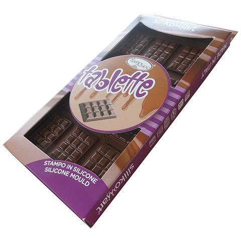Stampo Silicone Per Cioccolato Scg11 Tablette Della Silikomart, Colore Marrone.