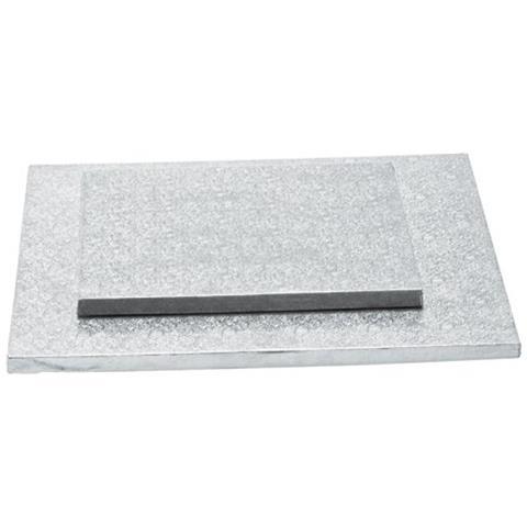 Cake Board Quadrato Bordo Alto 1,2 Cm Decora - Cm 20x20x1,2 H