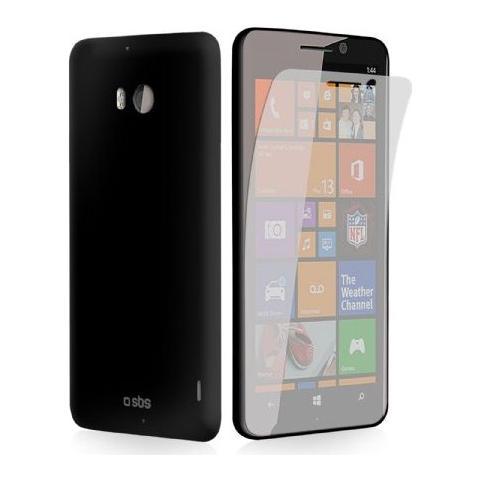 SBS Cover Aero per Lumia 930 + Pellicola protettiva - Nero