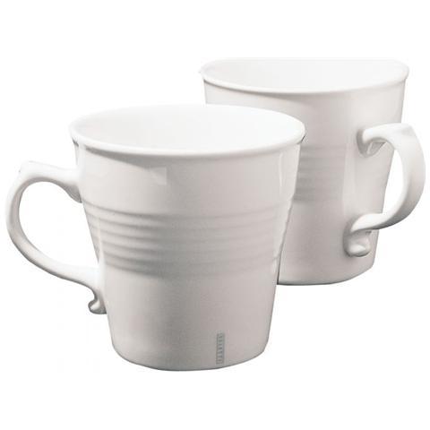 Set 2 Tazze In Porcellana Mug Ø Cm. 10,2 H. 10 - Linea Estetico Quotidiano