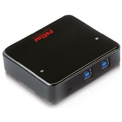 14.01.2312 USB 3.0 (3.1 Gen 1) Type-B 5000Mbit / s Nero perno e concentratore