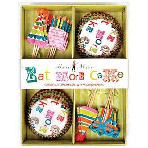 Pirottini Con Pick Per Cupcake Tema Party 24 Pz Meri Meri
