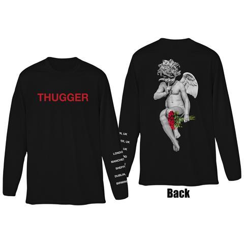 ROCK OFF Young Thug - Thugger Angel (Back & Sleeve Print) (Maglia Manica Lunga Unisex Tg. L)