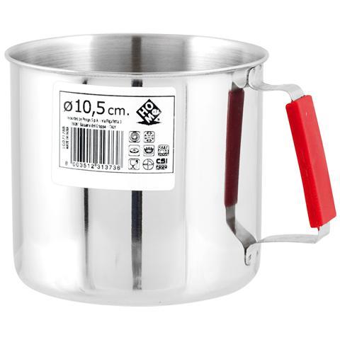 HOME Pignatto Acciaio Inox Manico Rosso Cm10.5 Pentole Cucina