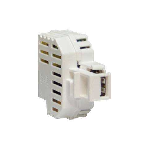 FME IPW-USB-21WHI - Alimentatore USB 2,1A da incasso con aggancio Keystone bianco
