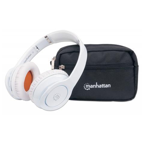 MANHATTAN ICC SH-FATHOM-WH - Cuffia Stereo Fathom Wireless con Microfono Bianca