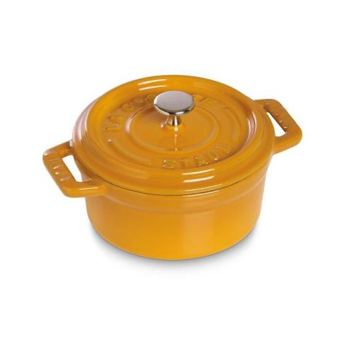 Mini-cocotte rotonda 10 cm 0,25 l color senape