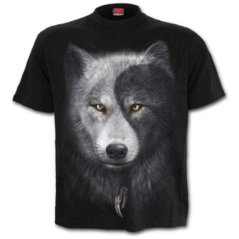 SPIRAL Wolf Chi T-shirt Black (T-Shirt Unisex Tg. L)