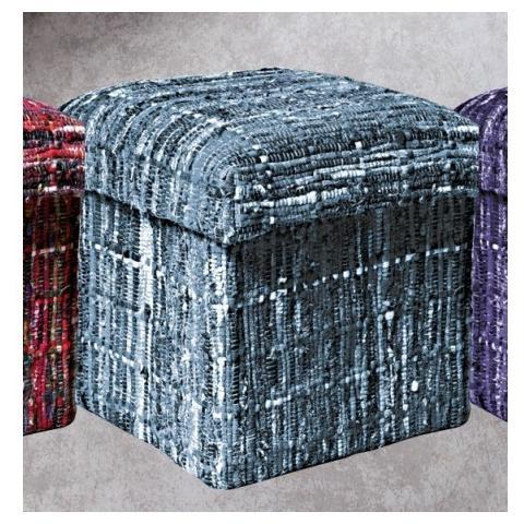 Stones Pouf Contenitore Richiudibile E Riponibile Mod. 044 / B di Colore Mix Natural