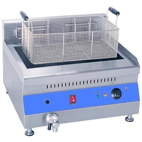 Friggitrice Elettrica Professionale In Acciaio Inox Per Pub Bar Ristoranti Da Banco 30 Lt - 220 Volt