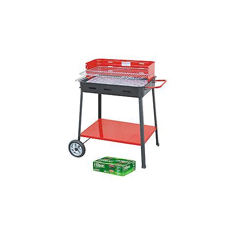 Barbecue A Carbonella Hitlon Art. 860 Lux Cm 63x43x88h