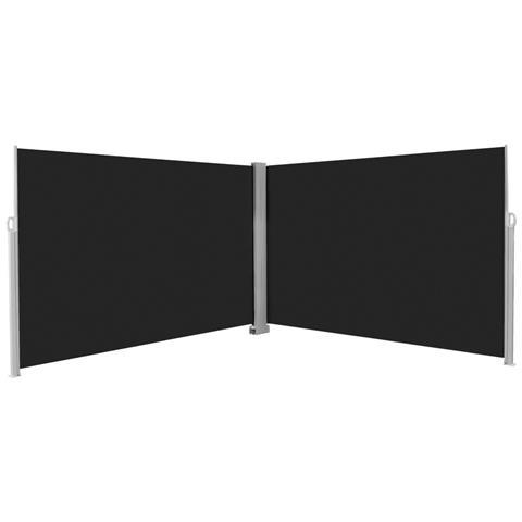 Tenda Da Sole Laterale Retrattile 200x600 Cm Nera
