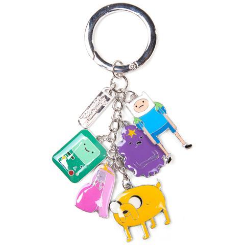 BIOWORLD Adventure Time - Finn, Jake, Beemo, Lumpy, Princess Bubblegum & Charms Multicolor (Portachiavi In Metallo)
