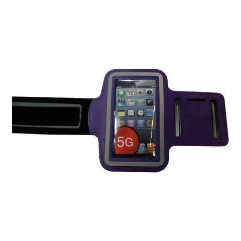 NetworkShop Custodia Fascia Da Braccio Sport Armband Viola Per Iphone 5