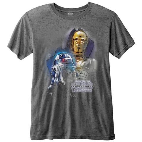 ROCK OFF Star Wars - Episode VIII Droids Portrait (Burn Out) (T-Shirt Unisex Tg. S)