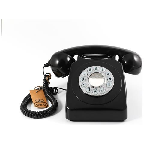 746 Push Button Black (telefono Vintage)