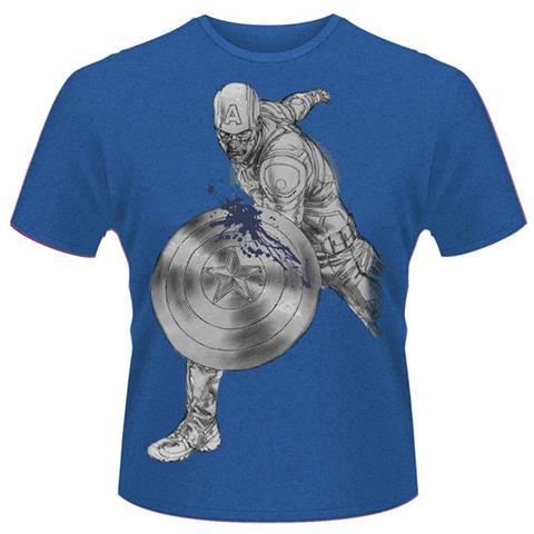 PLASTIC HEAD Avengers - Age Of Ultron - Captain A Splash (T-Shirt Unisex Tg. XL)
