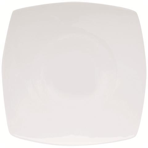 EXCELSA Piatto da Portata Bianca in Porcellana Maxime 29,0 x 29,0 cm
