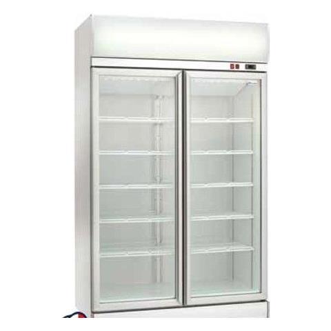 Espositore Refrigerato Ventilato Per Bibite Con Doppia Porta Vetro +2 / +8°c