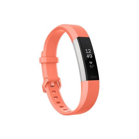 Fitbit Alta HR Corallo Taglia L - Braccialetto per Fitness Montatura Argento