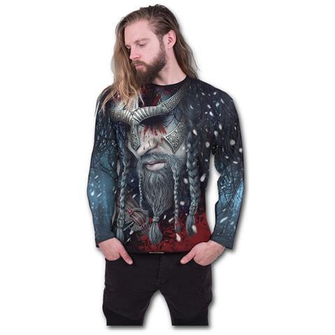 SPIRAL Viking Wrap - Allover Sleeveless Black (Maglia Manica Lunga Unisex Tg. S)
