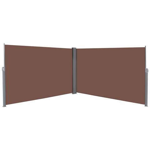 Tenda Da Sole Laterale Retrattile 180x600 Cm Marrone