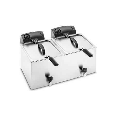 Friggitrice Elettrica Banco 2 Vasche 6+6 Litri Cm 54x45x31 Rs1003