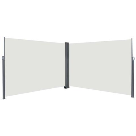 Tenda Da Sole Laterale Retrattile 200x600 Cm Crema