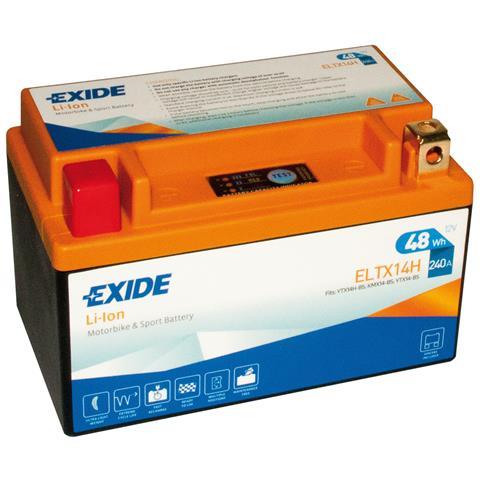 Exeltx14h Batteria 12v Bike Li-ion Lifepo4 48 Wh 240 A
