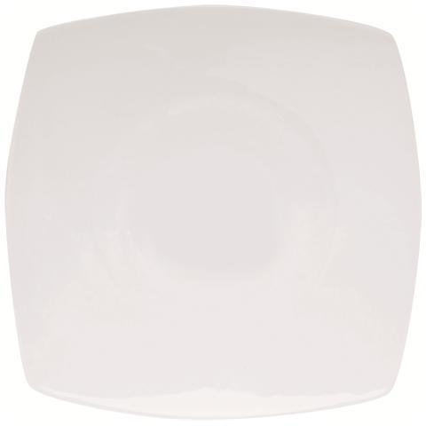 EXCELSA Piatto Frutta Bianco in Porcellana Maxime 21,0 x 21,0 cm