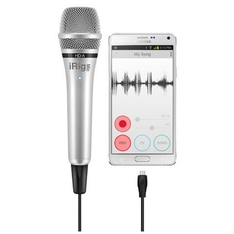 IK MULTIMEDIA iRig Mic HD-A Microfono digitale Samsung Pro Audio, Android 5, PC