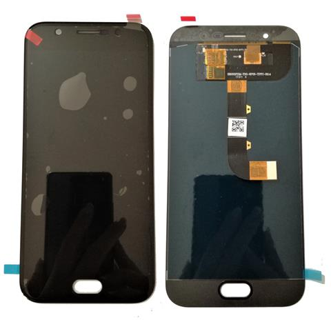 Image of Lcd Screen Touch Display Vetro Vetrino Flex Cable Nero Ricambio Per Wiko Wim
