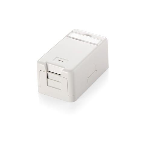 EQUIP Surface Mounted Box for Keystone Jack, Bianco, 3,7 cm, 3 cm, 6,5 cm