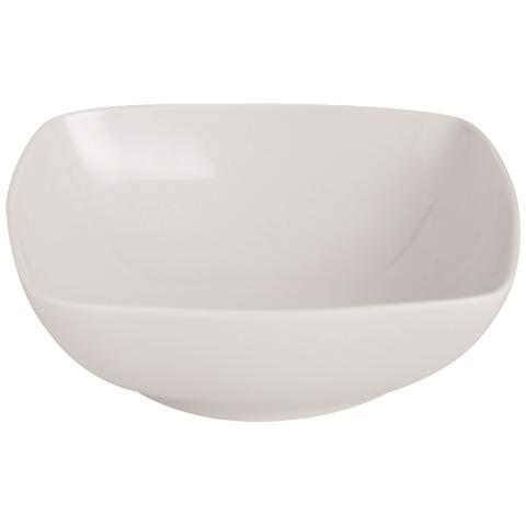 EXCELSA Piatto Fondo Bianco in Porcellana Maxime 17,0 x 17,0 cm